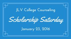 Scholarship Saturday - January 23, 2016   40 #College #Scholarships and #Contests with January 31 or February 1, 2016 deadlines   JLV College Counseling Blog