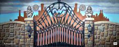 Willy Wonka Theatrical Backdrop Rentals by Kenmark Scenic Backdrops