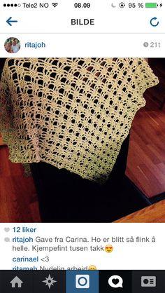 Crochet Chawl made to my mom