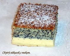 Chytrý zákusok s makom (fotorecept) - Recept Slovak Recipes, Czech Recipes, Yummy Treats, Sweet Treats, Yummy Food, Helathy Food, Sweet Recipes, Cake Recipes, Toffee Bars
