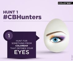 #CBHunters HUNT 1  #Easter #Eyes #Makeup #Beauty #ColorBar #Contest  Hint: www.colorbarcosmetics.com