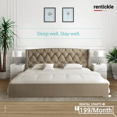 Don't compromise on comfort or a flawless night's sleep; Rent beds that designed to help you sleep deeply without breaking the bank! Rent Now Thinking of Renting. Think of Rentickle! Beds Online, New Beds, Renting, Pune, Bed Design, Mattress, Bedroom Decor, Sleep, Interior