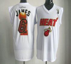 91d5da3410ef9f 2012 NBA Finals Heat  6 LeBron James White Stitched NBA Jersey Memphis  Grizzlies Jersey