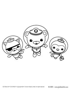 octonauts coloring pages bbc - photo#26