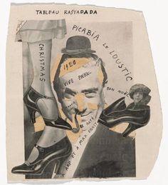 Francis Picabia. Tableau Rastadada, 1920. Collage et encre sur papier, 19 x 17,1 cm. The Museum of Modern Art, New York