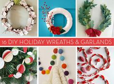 In keeping with the spirit of the handmade holiday season, we've rounded up 16 wreaths