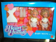Mattel The Heart Family Baby Wets Babies #7173 NRFB #DollswithClothingAccessories