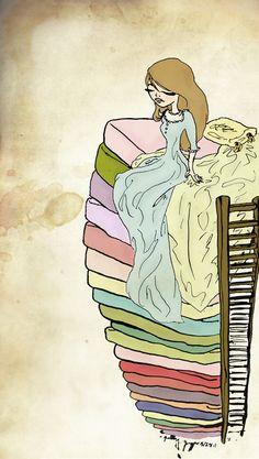 The Princess and the Pea Art Print   littlemoondance