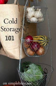 Root cellars and me (tips for cold storage). #DIY #tip #pantry