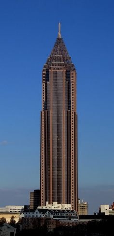 Bank of America Plaza, Atlanta, Georgia USA Georgia Homes, Georgia Usa, Atlanta Georgia, Atlanta Usa, Atlanta Midtown, Atlanta Skyline, Unique Buildings, Amazing Buildings, Visit Atlanta