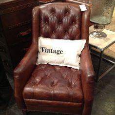 Soft Weathered Leather and Vintage Accent Pillow Accent Pillows, Accent Chairs, Las Vegas World, Market Trends, World Market, Accent Decor, Rustic, Leather, Furniture