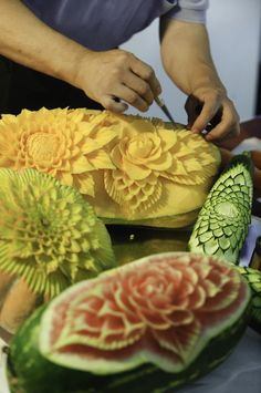 #fruit #carving from Kurzy Fruit Carving: CZECH CARVING STUDIO