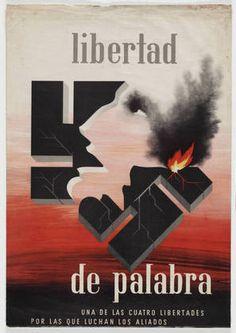 Alexey Brodovitch. Libertad de Palabra, Una de las Cuatro Libertades por las que Luchan los Aliados. 1942