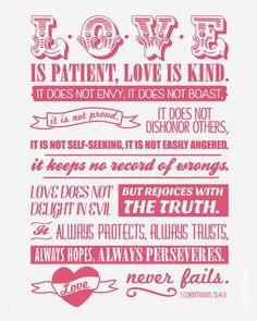 1 Corinthians 13:4-8 ❤