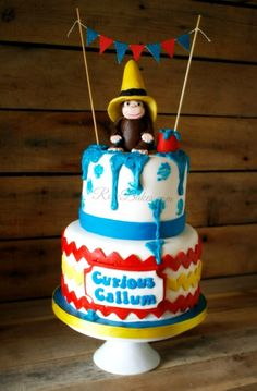 Curious George Cake on RoseBakes.com