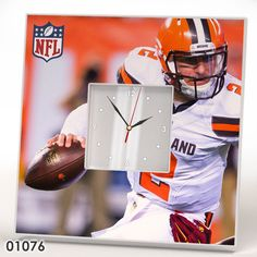 Cleveland Browns Wall Table CLOCK Mirror Frame NFL AFC NFC Collection Fan Gift #IKEA #ClevelandBrowns
