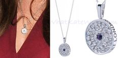 One of the Duchess' more frequently worn necklaces has been her Asprey 167 button pendant (167 New Bond Street is the jeweler's address).