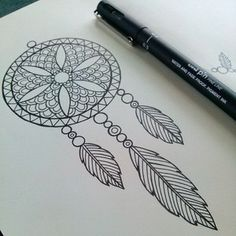 A wee dream catcher for a little project I'm excited to be working on!