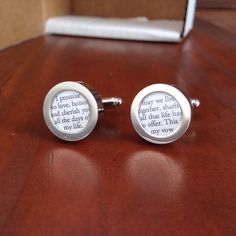 Packaging up a custom anniversary gift with someone's sweet wedding vows