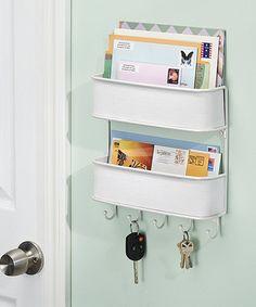 $20Look at this #zulilyfind! Twillo Wall Mount Two-Tier Mail & Key Rack #zulilyfinds