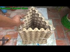 Concrete Garden Ornaments, Diy Cement Planters, Concrete Crafts, Garden Ideas To Make, Flower Pots, How To Make, Youtube, Trays, Eggs