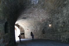 Coming through the tunnel exiting the walled city.