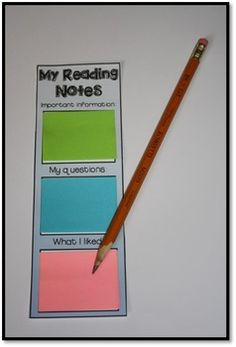 Easily differentiated and great for accountability during silent reading.
