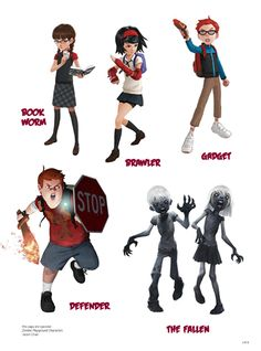 ✧ #characterconcepts ✧ zombie playground