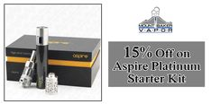#MTBaker 15% off on Aspire Platinum Starter Kit  #vape #Vapormax #vapors #smoking #ecig #weeksale #flavour