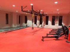 Neoflex in Color 802 Bright Red is an incredibly dynamic choice at the Fitness First Mosman Platinum.