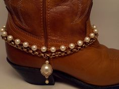 Boot Bracelet. Vintage large capped pearl charm by McIversRevivers