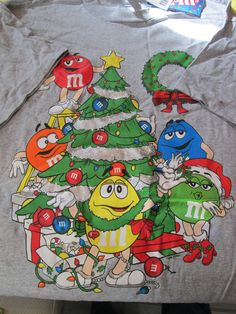 M & M Characters around a Christmas Tree T-Shirt