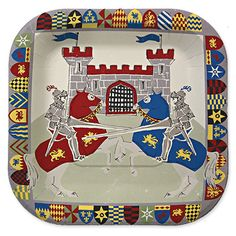 Brave Knights party plates