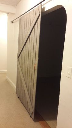 Sliding barn door from Remodelaholic tutorial