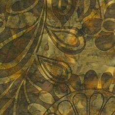 Island Batik Hand Printed Cotton - Lemon Clove SP01-A1