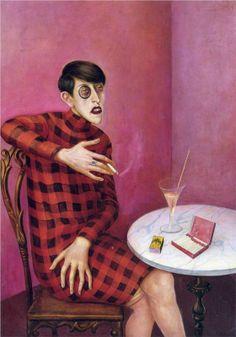 Otto DIX :: Portrait of the Journalist Sylvia von Harden, 1926