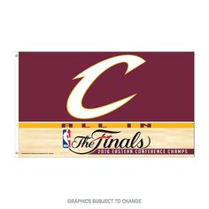 2016 Cleveland Cavaliers Eastern Conference Champions 3x5 Flag NBA Finals #Wincraft #ClevelandCavaliers