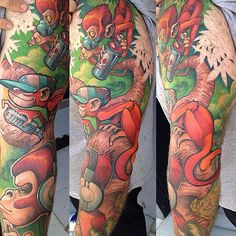 Amazing line and colour work of  logan barracuda tattoo