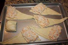 Chicken Roll Ups (chicken, cheese, cream cheese, and a packet of Hidden Valley Ranch powder) AMAZING!! This looks so quick and easy!