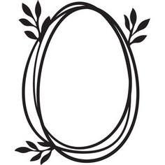 Silhouette Design Store: leafy easter egg frame