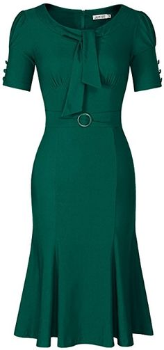 Amazon.com: JUESE Women's 50s 60s Formal or Casual Party Pencil Dress (XXL,Deep Green): Clothing