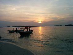 Sunset at Pulau Perak, Indonesia