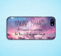 Hakuna Matata Phone cases iPhone 5C case iPhone 5 by modestyle, $8.99