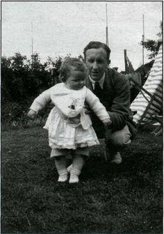 Tolkien and his daughter Priscilla.