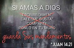 Si amas a Dios guarda sus mandamientos. Encouragement Quotes, Bible Quotes, Bible Verses, Bible Emergency Numbers, Biblia Online, Religion, Catholic Quotes, Jesus, God Loves Me