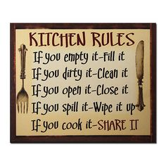 African American Expressions Kitchen Rules Framed Textual Art