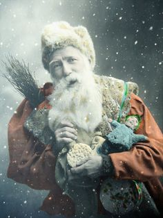 Antique Christmas postcard  Father Christmas by LizKnijnenburg