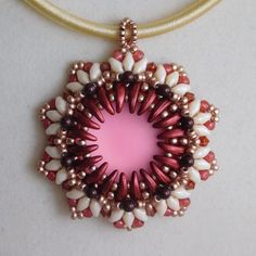 Beaded Pendant Tutorial Beading Pattern by poetryinbeads on Etsy
