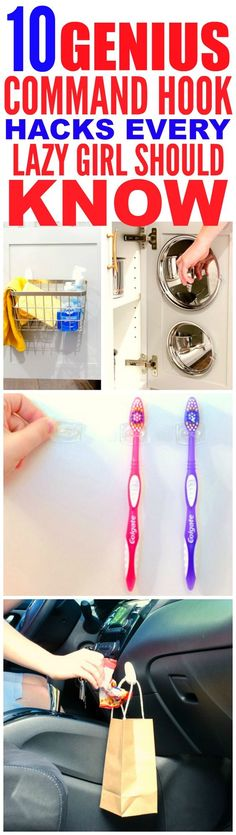 These 10 life changing command hook hacks are THE BEST! I'm so happy I found these GREAT tips! Now I can organize and decorate my home! Definitely pinning for later!