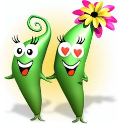 Hi! We're Sugar Snap & Sweet Pea – delicious vegetables that are fun to grow, pick and eat!